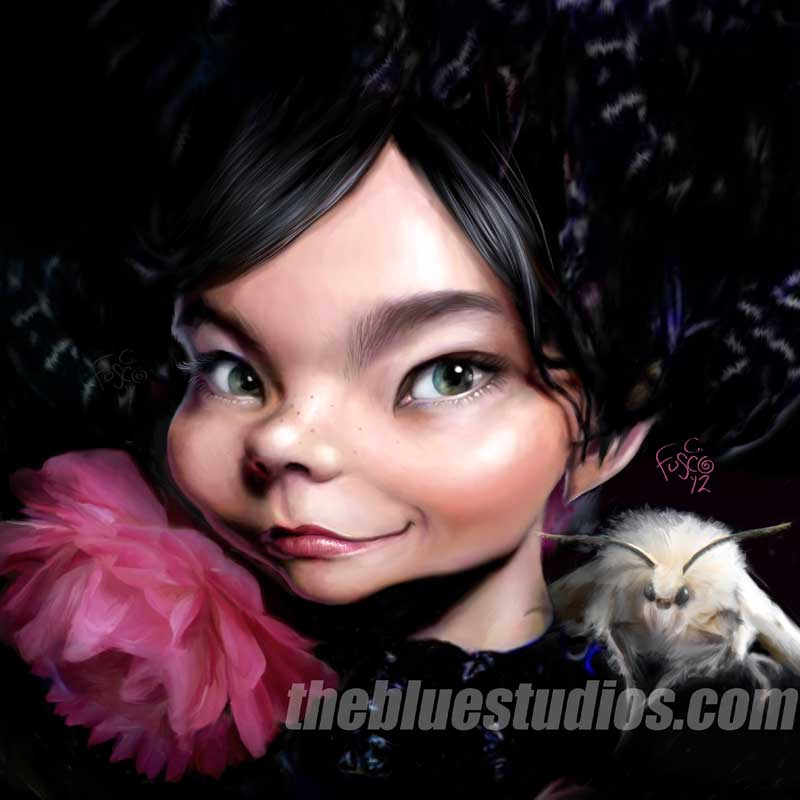 Bjork - Painted Caricature
